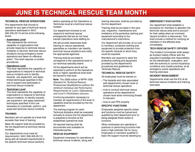WFC Calendar - June Tech Rescue